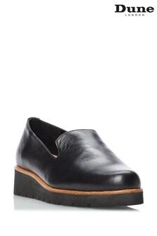Dune London Black Gliding Slipper Cut Flatform Shoes