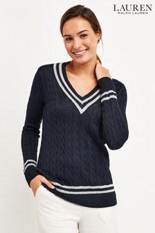 Lauren Ralph Lauren® Navy Meren Cricket Jumper
