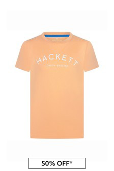 Hackett London Kids Boys Yellow Cotton T-Shirt