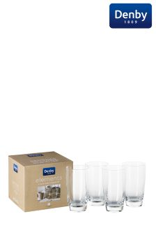 Set of 4 Denby Elements Tumbler Glasses