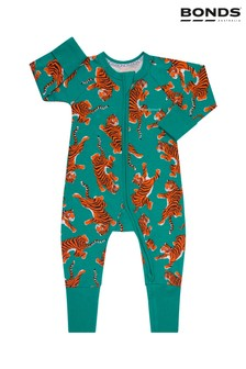 Bonds Climbing Tigers Green Zip Wondersuit