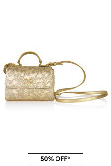 Dolce & Gabbana Kids Gold Leather Bag