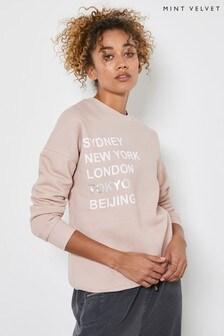 Mint Velvet Pink Dusty Cities Sweatshirt