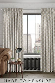 Stellard Oyster Natural Made To Measure Curtains