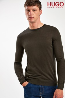 HUGO Green San Lorenzo Crew Neck Jumper