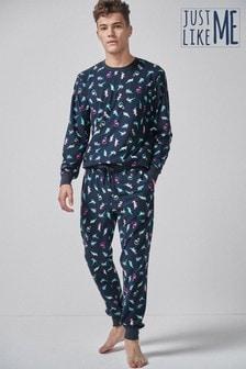 Pyjama mit Dinosaurierprint für Herren, Teil der Familien-Kollektion