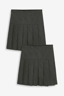2 Pack Pleat Slim Fit Skirts (3-16yrs)