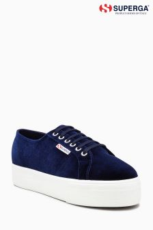 Superga® Purple Velvet Platform