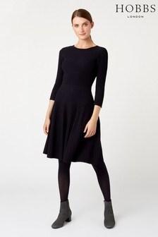 Hobbs Blue Kath Knitted Dress