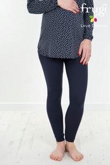 Frugi GOTS Organic Maternity Navy Yoga Pants