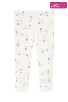 Joules White The Crawlers Organically Grown Cotton Leggings