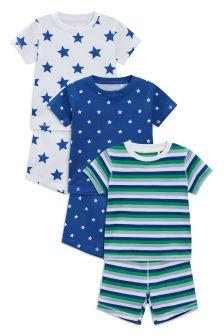 Lot de trois pyjamas confortables motif étoile (9 mois - 8 ans)