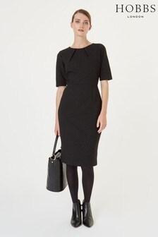 Hobbs Black/Ivory Silvia Dress