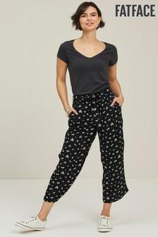 FatFace Black Daisy Breeze Crop Trousers