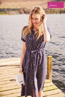 Joules Winslet Print Button Front Shirt Dress