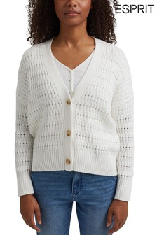Esprit Natural Organic Cotton Pointelle Cardigan
