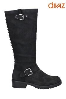 Divaz Courtney Zip Up Boots