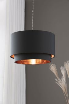 Rico Grey And Copper 2 Tier Easy Fit Shade