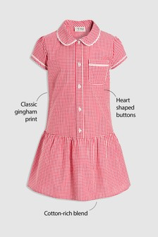 Drop Waist Gingham Dress (3-14yrs)