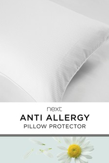 Set of 2 Anti Allergy PIllow Protectors Treated With Micro-Fresh