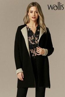 Wallis Petite Black Contrast Cardigan