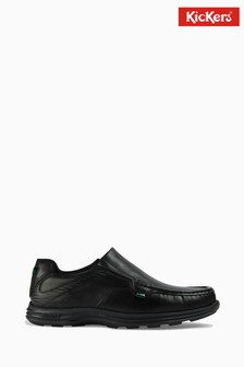 Kickers Black Reasan Slip Shoes