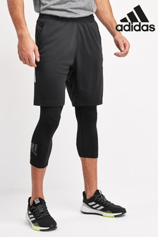 adidas Black Alphaskin Sport 3/4 Leggings