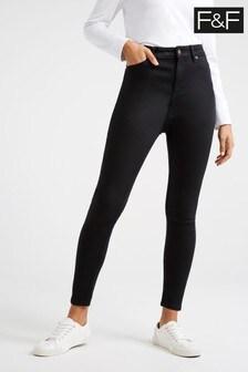 F&F Black Contour Flow Jeans