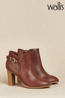 Wallis Alicante Tan Woven Buckle Boots