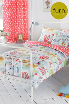Little Furn Vintage Circus Duvet Cover and Pillowcase Set by Furn