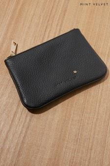 Mint Velvet Black Leather Pouch
