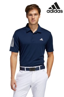 adidas Golf Navy 3 Stripe Polo