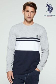 U.S. Polo Assn. Varsity Block Long Sleeve T-Shirt