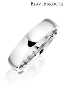 Beaverbrooks Mens Palladium Plain Wedding Ring
