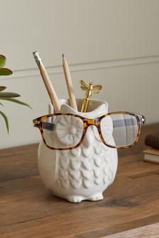 Owl Pen Pot