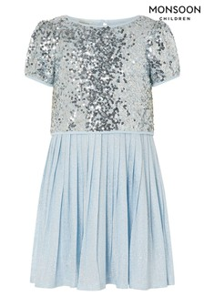 Monsoon Sequin Top And Pleated Dress 2-In-1 Set