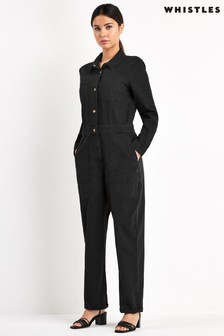 Whistles Gabby Denim Jumpsuit