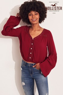 Hollister Red Blouse