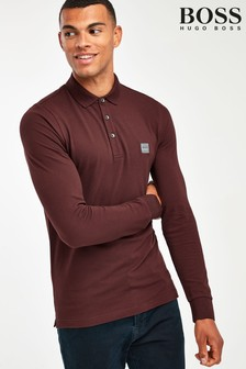 BOSS Passerby Long Sleeve Logo Polo