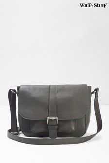 White Stuff Grey Bonnie Leather Cross Body Bag