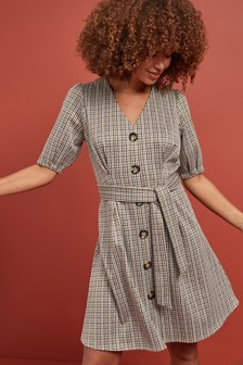 Jacquard Check Dress