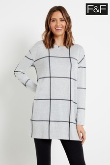 F&F Multi Albi Brushed Check Tunic