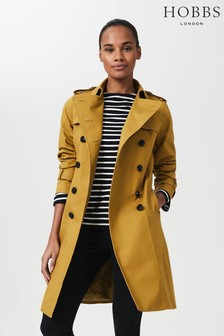 Hobbs Yellow Petite Saskia Trench Coat