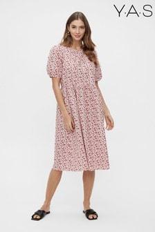 Y.A.S Pink Floral Cotton Poplin Barry Dress