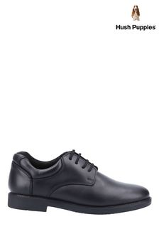 Hush Puppies Black Tim Junior School Shoes