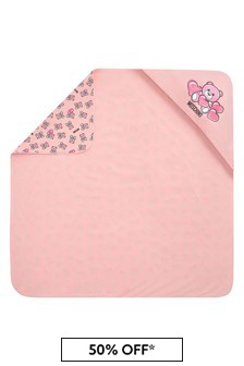 Moschino Kids Baby Girls Pink Cotton Blanket