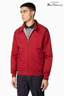 Ben Sherman Red Signature Harrington Jacket