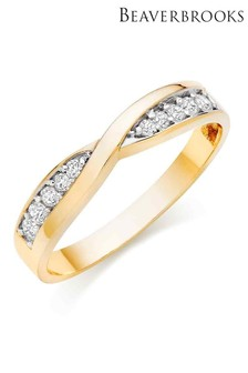 Beaverbrooks 9ct Gold Cubic Zirconia Ring