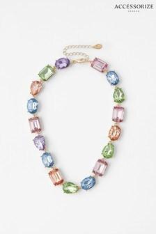 Accessorize Pink Ombre Gem Collar Necklace