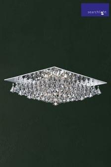 Searchlight Metal Dama 8 Light Square Flush Ceiling Light